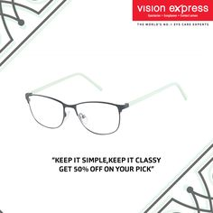d2857a1310 There s something subtle yet appealing about this pair of sky blue spectacle  frames. Pair it with your formal office wear. VX GV IN STYLE