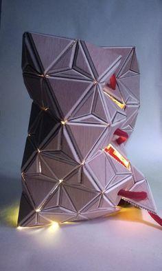 Hadrien Thiabaud a souhaité nous présenter son univers créatif à travers l'un de ses projets, la réalisation d'un luminaire. Nous avons été séduits par ce principe de bois-textile utilisé et par l'objet final qui se pare de rainures et de pliages jouant sur la diffusion de la lumière.  Explications du projet par Hadrien: « Ce concept est issu d'une étude de couverture d'architecture. Bien que le projet architectural ait radicalement changé, la recherche autour de celui-ci a mené...