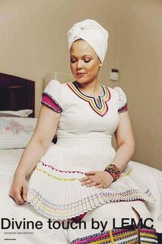Sepedi Traditional attire Made by: Divine touch by LEMC Based in Pretoria. Specialize in Proudly South African clothing for all occasions. Pedi Traditional Attire, Sepedi Traditional Dresses, African Traditional Wedding Dress, African Fashion Traditional, African Wedding Dress, African Print Dresses, African Dress, African Prints, African Lace