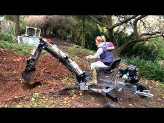 Blonde Women Operating the Jansen Mini Excavator 4l60e Transmission Rebuild, Homemade Tractor, Mini Excavator, Farm Tools, Down On The Farm, Blonde Women, Digger, Haiti, Trailers