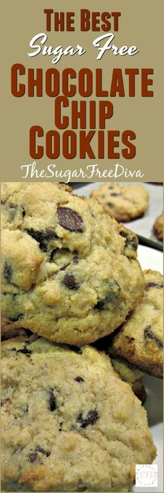 Enjoy your cookies and eat them too with The Best Sugar Free Chocolate Chip Cookie recipe that we could find. These cookies are fabulous!
