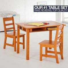 Lipper Childrens Rectangular Table And Chair Set Activity Tables At Hayneedle