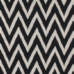 CR Laine Fabric: ZigZag Onyx