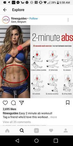 Wie man Bauchfett mit einem Ab-Workout verliert … How To Lose Belly Fat With A 2 Minute Ab Workout Minute abs Fitness Workouts, Fun Workouts, At Home Workouts, Fitness Tips, Ems Fitness, Best Workout Routine, At Home Workout Plan, Waist Workout, Belly Fat Workout