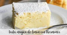Magic lemon cake with thermomix - Desserts - Thermomix Desserts Thermomix, Salted Caramel Chocolate Cake, Best Oatmeal, Cookies Et Biscuits, Cake Pans, Food Items, Afternoon Tea, Vanilla Cake, Lemon