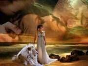 La dama y su leon..