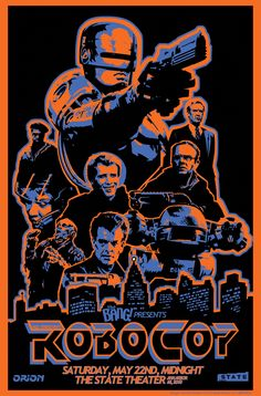 All sizes | Robocop Blacklight Poster Design by Jeremy Wheeler | Flickr - Photo Sharing!