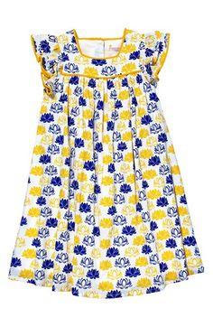 MASALABABY 'Zuri' Lotus Print Cotton Dress (Toddler Girls, Little Girls & Big Girls) available at #Nordstrom