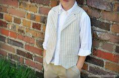 DIY Clothes DIY Refashion: DIY Boys Vest
