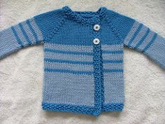 The jacket is knit top-down, all-in-one piece, and the yarn is knit tightly on needles slightly smaller than called-for to make a nice winter jacket for a babe. Just two buttons makes it easy to get on and off the very special tyke.