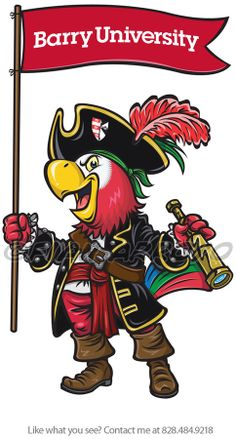 Barry University Mascot Barry University, I Miss My Daughter, Miami Shores, Design Illustrations, College Football, Schools, Character Design, Student, Spaces