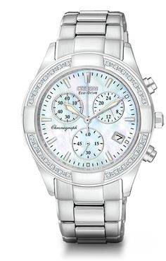 Got this for Christmas - Citizen Eco-drive diamond bezel with mother of pearl face. I love it.....