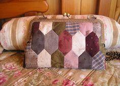 Luchi patchwork: Bolso - cartera con boquilla