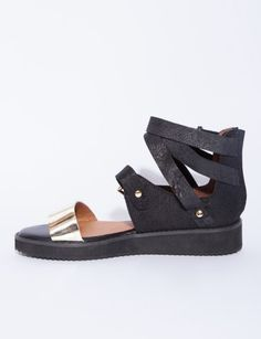 Vanity buckled sandals. Love these!
