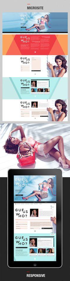 Guess Microsite & Mobile App by Ricardo Martins, via Behance
