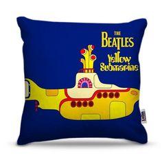 Almofada Beatles Submarino Amarelo - 45 x 45 cm