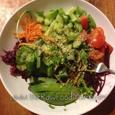 Back to raw food!  I was so busy today... I love that we eat raw food it took al