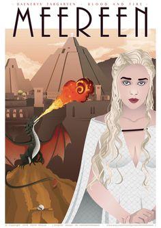 Poster Daenerys TARGARYEN - Game of Thrones affiche - affiche de film…