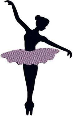 Ballerina Ballet Dancer Silhouette Ballet Shoes Ballet Slippers Dancer Dance Dancing INSTANT DOWNLOAD Embroidery Design Pattern