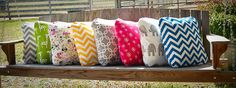 18 x 18 Pillow Cover You Choose Print by mysweetswirls on Etsy