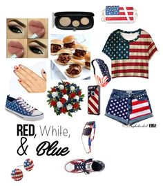 """""""Happy Fourth  !"""" by treelights29 ❤ liked on Polyvore featuring Marc Jacobs, Chicnova Fashion and Converse"""