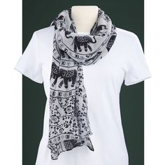 Parade-of-Elephants Scarf - Best Selling Gifts, Clothing, Accessories, Jewelry and Home Décor
