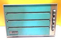 Rare Vtg Caloric Caddie Kitchen Wrap Dispenser Wax Paper Plastic Foil Teal 1960s ( 3 dispensers for: tin foil, wax paper and plastic wrap)