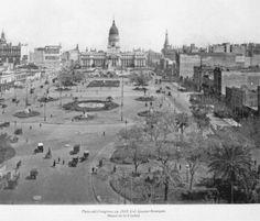Plaza Congreso en 1920