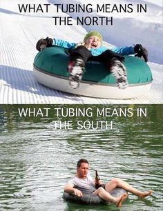 A Wisconsin Country Girl get's to experience both types of tubing.  Down the river in the summer and down the hills in the winter!  So blessed!