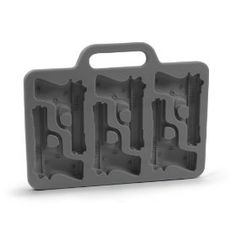 Gun-shaped ice cubes!