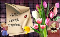 Všetko najlepšie k meninám Congratulations, Tableware, Spirituality, Dinnerware, Dishes, Spiritual, Place Settings