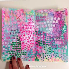 Last art journal page of 2016 by @ihanna #artjournal #moleskine