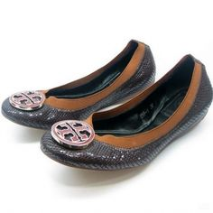 47cf7889c5f1 US6158 Tory Burch Coffee   Med Brown Caroline Reva Ballet Flat 5  76.30