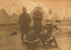 Unidentified Australian soldiers at a tent camp, possibly Mena Camp in Egypt? Do you recognise any of these men?