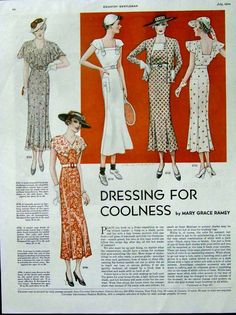Dresses, 1934, pattern ad in Country Gentleman