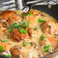 Creamy Chicken And Mushroom Skillet Recipe