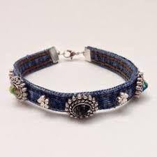 Resultado de imagem para denim bracelet