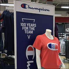 Champion 100-Years-For-The-Team Branding Champion Sportswear, Team V, Retail Fixtures, Champion Logo, Logo Branding, The 100, Casual, Random, Casual Clothes