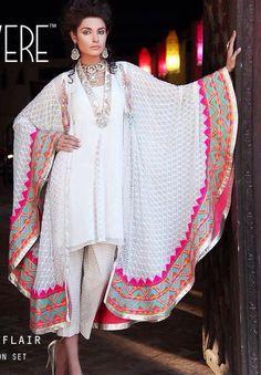 Soooooooo Love this. Latest Pakistani Indian formal Shalwar Kameez with Trouser / Churidar Pajama Pakistani Couture, Indian Couture, Pakistani Outfits, Indian Outfits, Indian Attire, Indian Wear, Ethnic Fashion, Asian Fashion, Anarkali