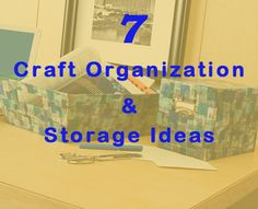 7 craft organization and storage ideas/projects. There's glass jars with blue flowers do for kitchen decor, canisters