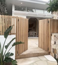 Outdoor Spaces, Outdoor Living, Outdoor Decor, Exterior Design, Interior And Exterior, Beach Bungalows, Modern Fence, Backyard, Patio