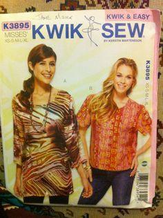 Kwik Sew XS-XL. Cotton silk rayon georgette