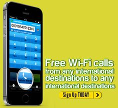 Now make free wifi calls from any international destination to any international destination.
