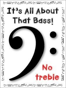 BASS CLEF NOTES: This is a free download for you to use with your music classes when introducing the bass clef! I created this resource to use with the YouTube clip:All About That Bass. ♫ CLICK through to download your copy !  ♫
