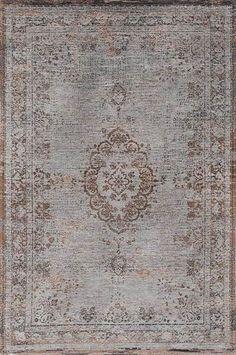 Karpet Vintage Fading Medallion Grey Ebony 8257