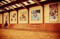 Indoor arena with pictures