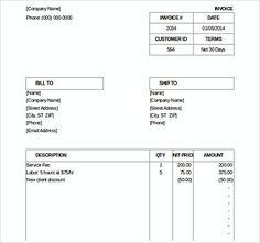 Auto Repair Excel Invoice Templatess  Microsoft Excel Invoice