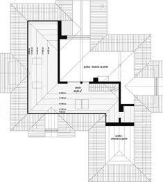 Rzut poddasza projektu Rozłożysty Floor Plans, House Design, Architecture, Architecture Design, House Plans, Home Design, Floor Plan Drawing, House Floor Plans, Design Homes