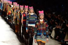 Missoni takes a political stand at the Milan FW.  Models wore Pussyhats, the hot pink symbols of protest and female solidarity.