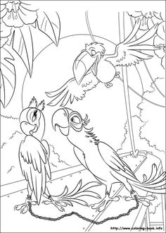 Blu fall in love coloring pages for kids, printable free - Rio cartoon Love Coloring Pages, Coloring Book Art, Online Coloring Pages, Cartoon Coloring Pages, Animal Coloring Pages, Adult Coloring Pages, Coloring Pages For Kids, Coloring Sheets, Rio 2